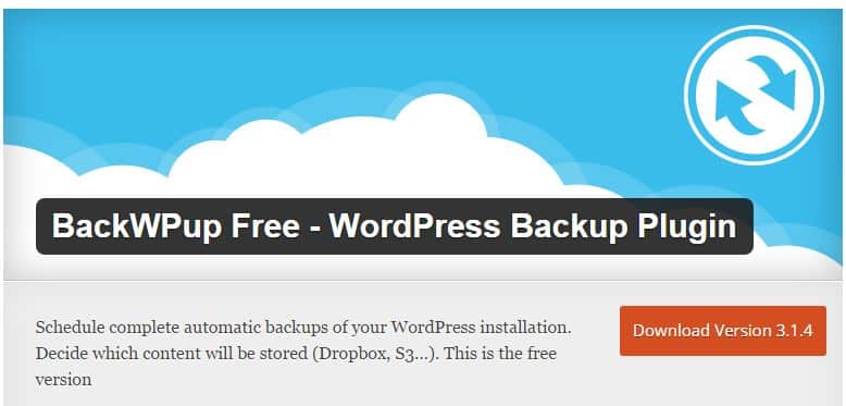 backwpup - תוסף גיבוי אתר וורדפרס