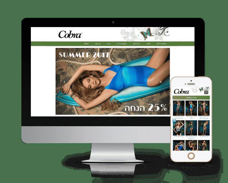 עיצוב בניית אתר לחברת קוברה