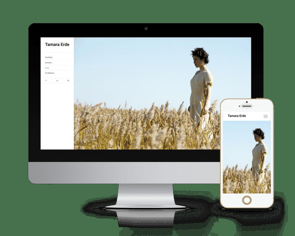 עיצוב ובניית אתר עבור האמנית תמרה ארדה