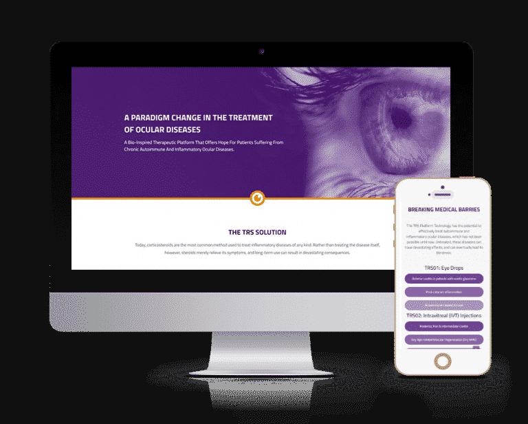 עיצוב ובניית אתר עבור טארסיוספארמה