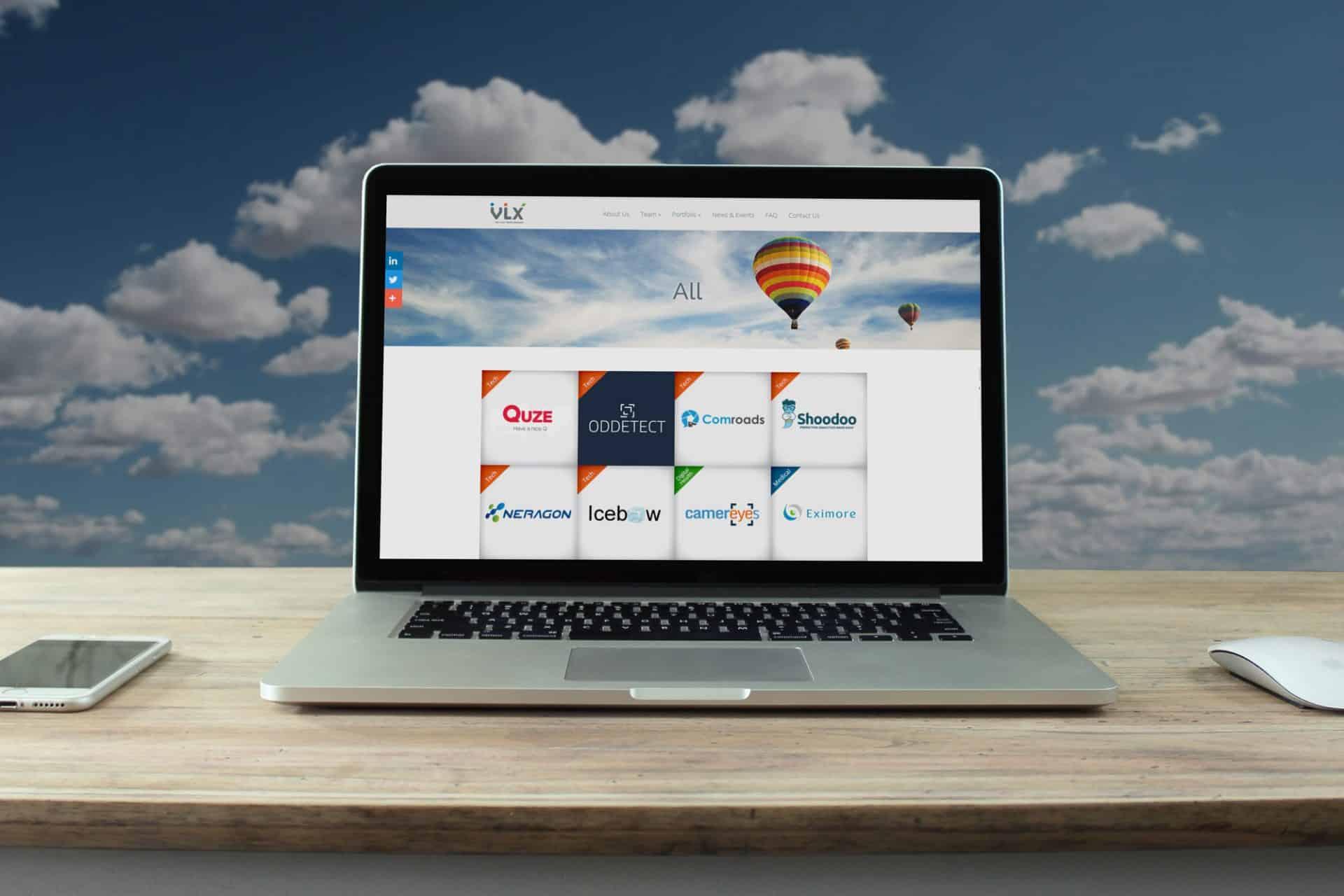 עיצוב ובניית אתר ל VLX חממה טכנולוגית בגבעת רם