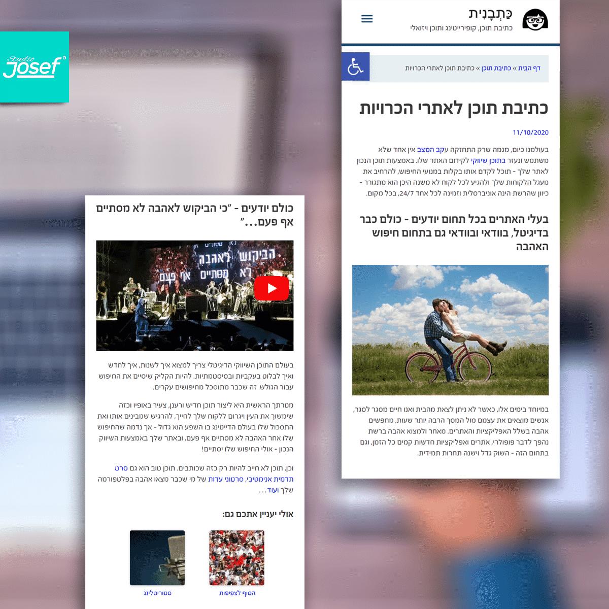 עיצוב אתר כתבנית - עמוד פוסטים