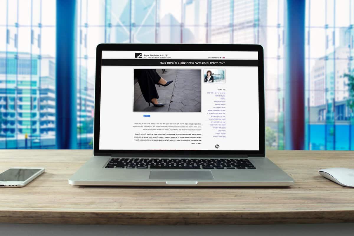 עיצוב ובניית אתר אינטרנט לאני פרידמן